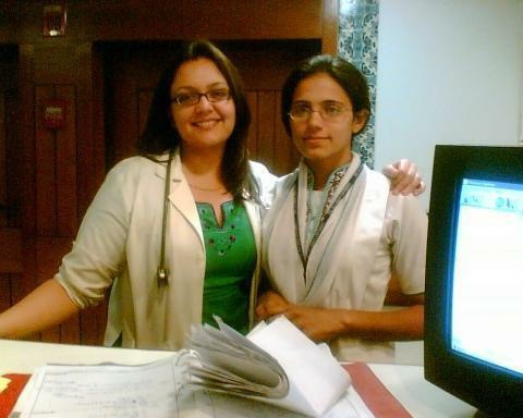Dr Beenish Hanif with a colleague