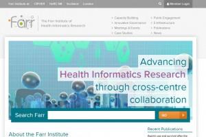 the farr institute website screenshot