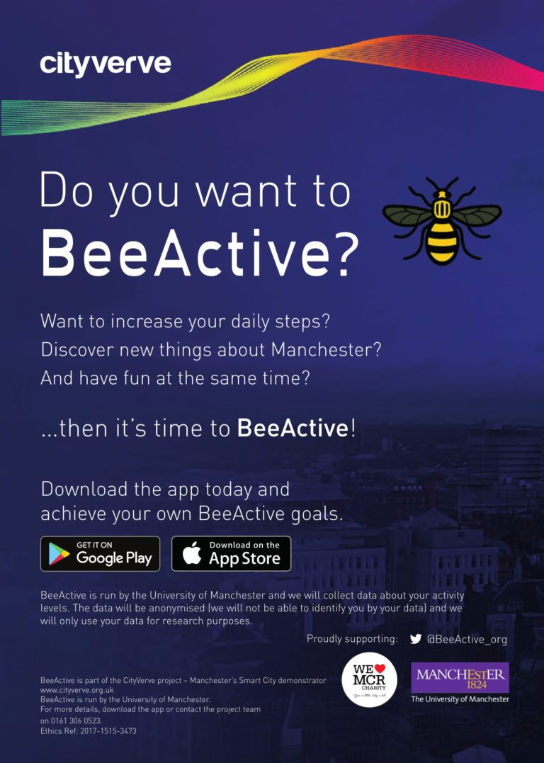 Do you want to BeeActive? Want to increase your daily steps? Discover new things about Manchester?