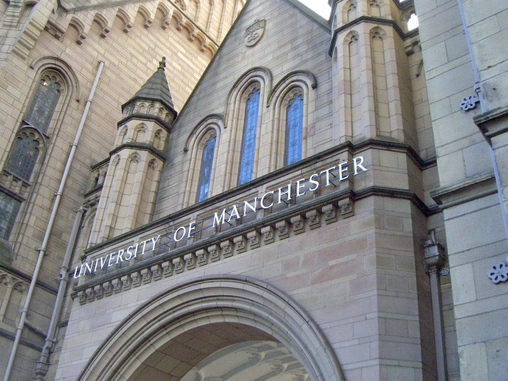 Photo of the Whitworth Building at the University of Manchester