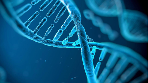 Blue picture of a genome