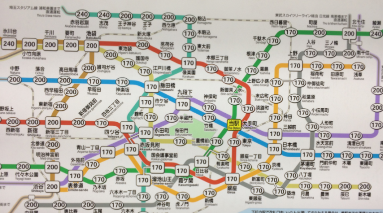 Map of the Tokyo Metro